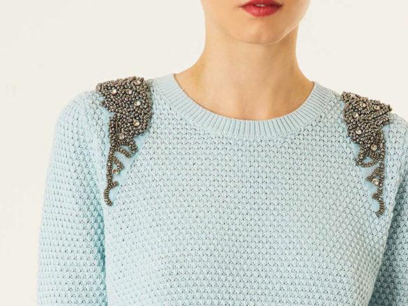 Pretty pastels: knitwear