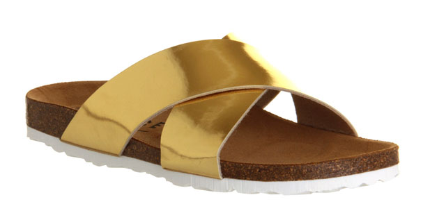 office-gold-sandals