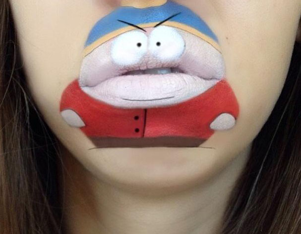 The coolest lip art ever!