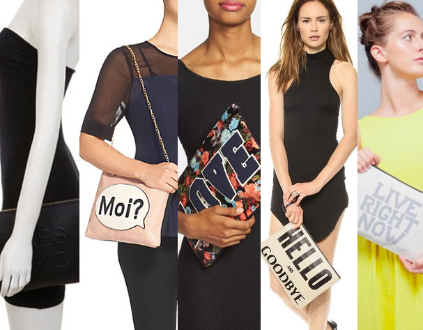 Slogan Clutch Bags - AW14 Trend