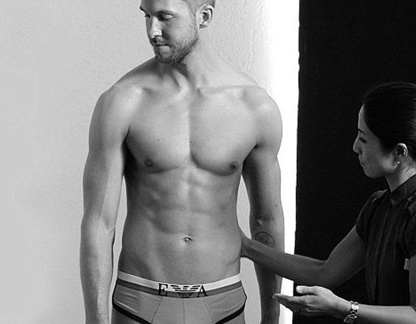 Calvin Harris Armani Underwear Campaign