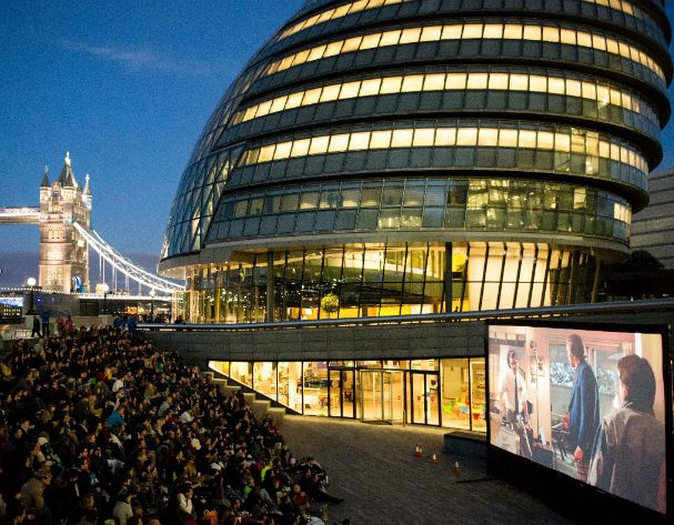Open-Air Cinema on London's Southbank