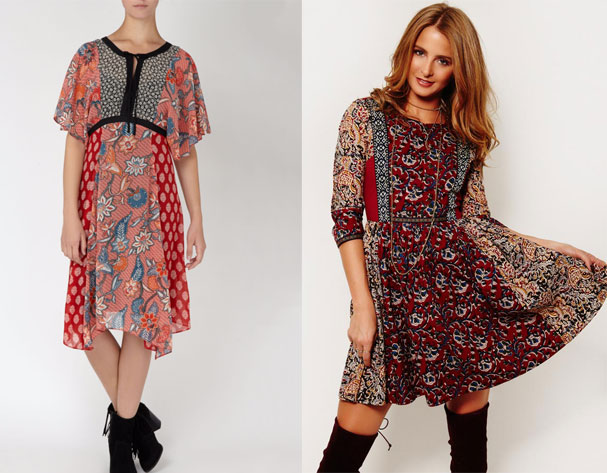 High street vs High-end: Boho dresses