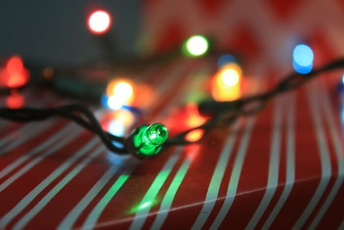 Secret Santa gift lights