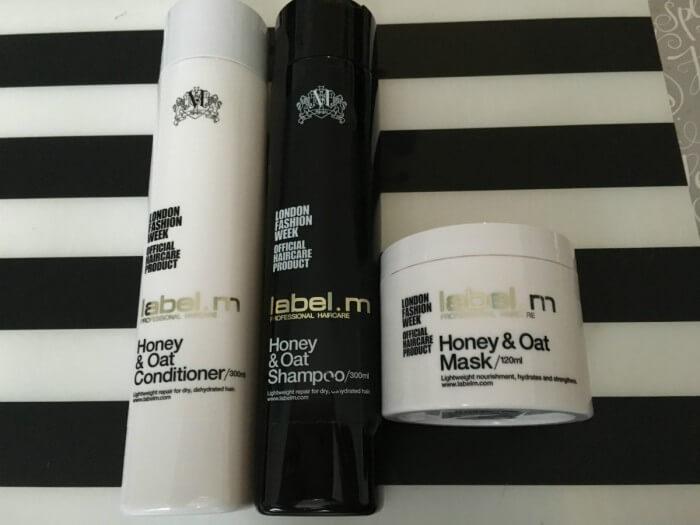 Label m haircare honey & oat gift set