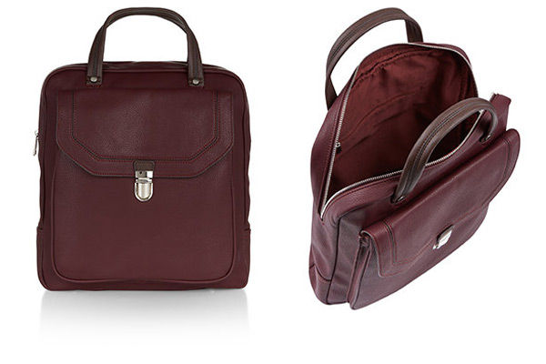 Burgundy College backpack Acceessorize