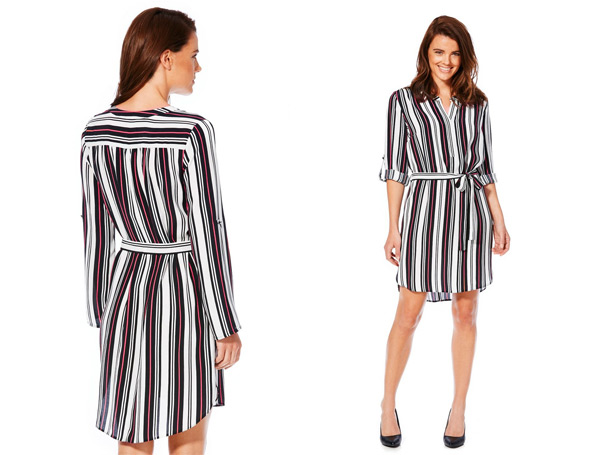 Tesco Florence Fred Striped shirt dress