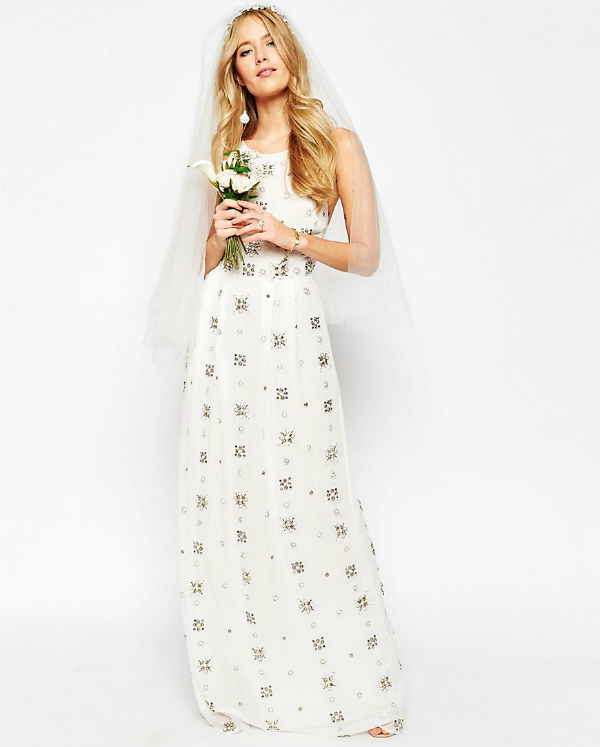Asos bridal collection embellished maxi