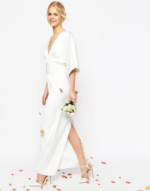 Asos bridal collection kimono dress