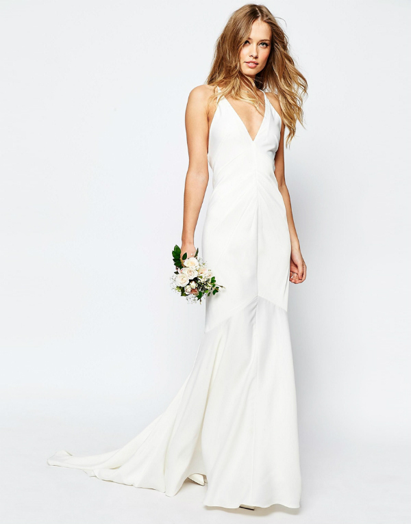 Asos bridal fishtail wedding dress
