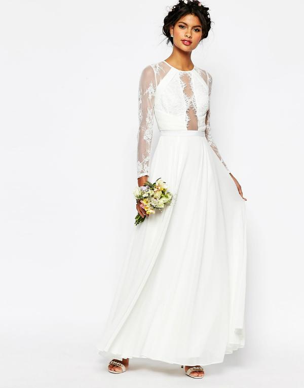 Asos maxi wedding dress