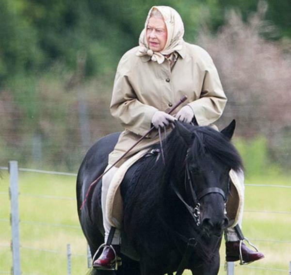 Queen horse riding
