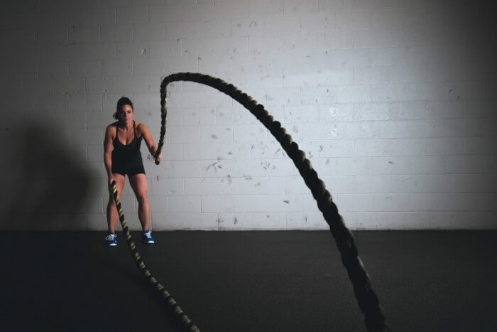 Gym ropes workout