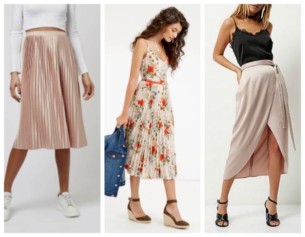 Midi skirt trend looks
