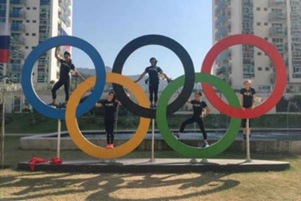 Olympic gymnastics rings Rio