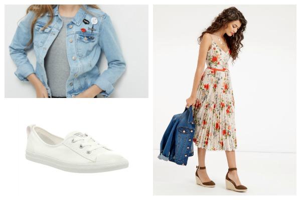 Summer midi dress look