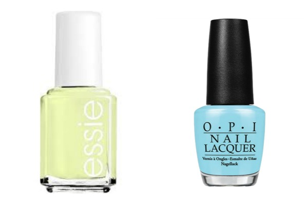 Summer nail varnish essie OPI