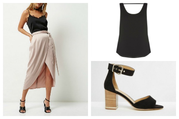 Workwear midi skirt