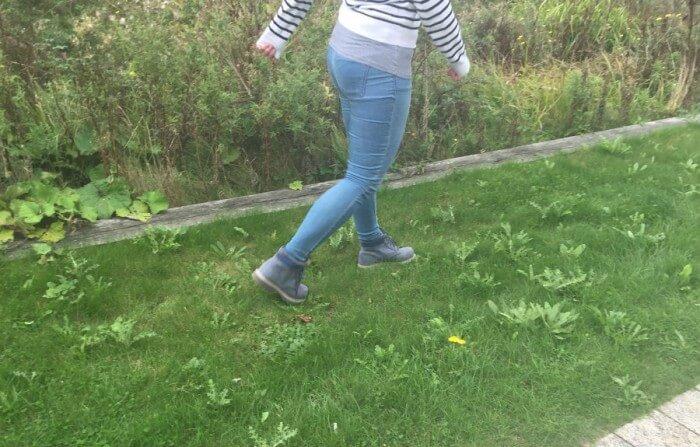 CAT blue walking boots