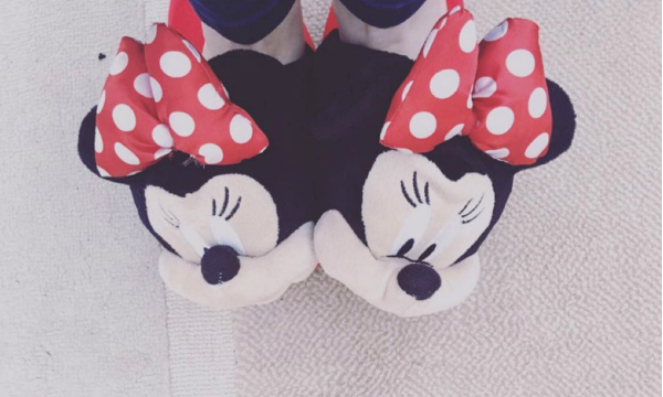 Minnie Mouse slippers January treats