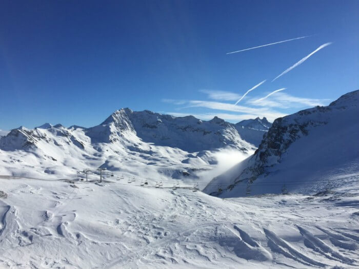 Tignes skiing France