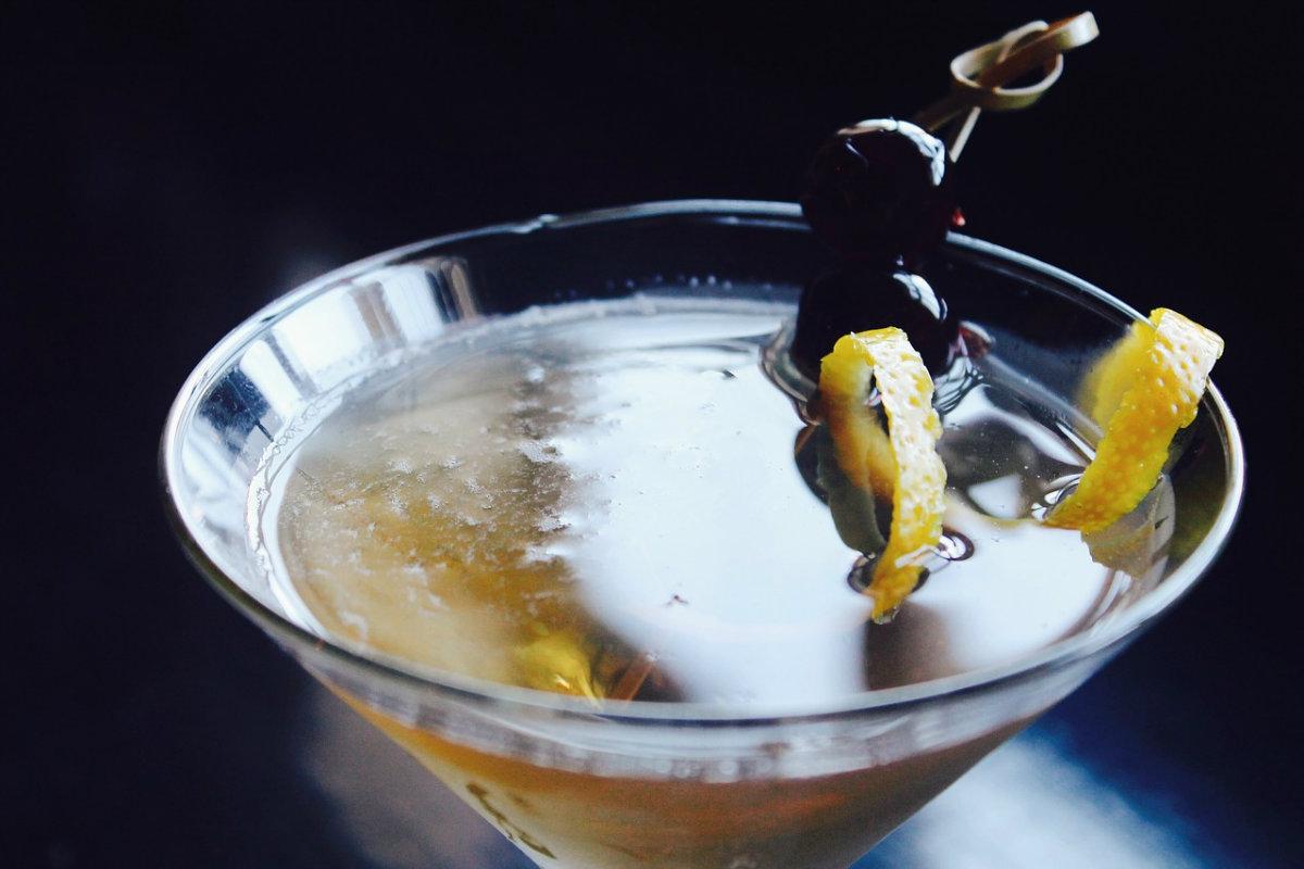 Zubrowka bison grass vodka martini
